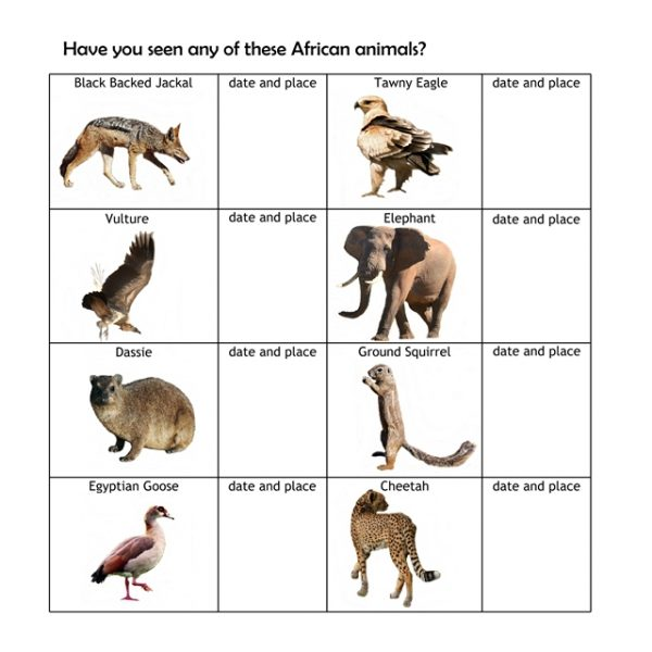 Checklist of African Animals